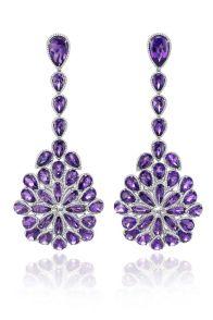 Pendientes amatista y diamantes de CHOPARD
